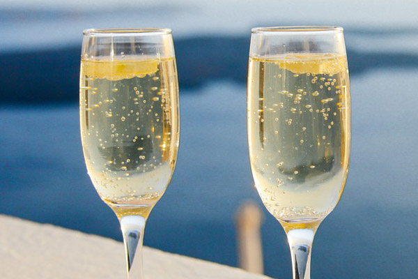 Preferred glass shape for sparkling wine