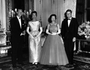 John F Kennedy and Queen Elizabeth, 1961