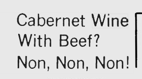 Cabernet Wine with Beef?