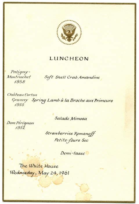 Grace Kelly White House visit meeting John F. Kennedy