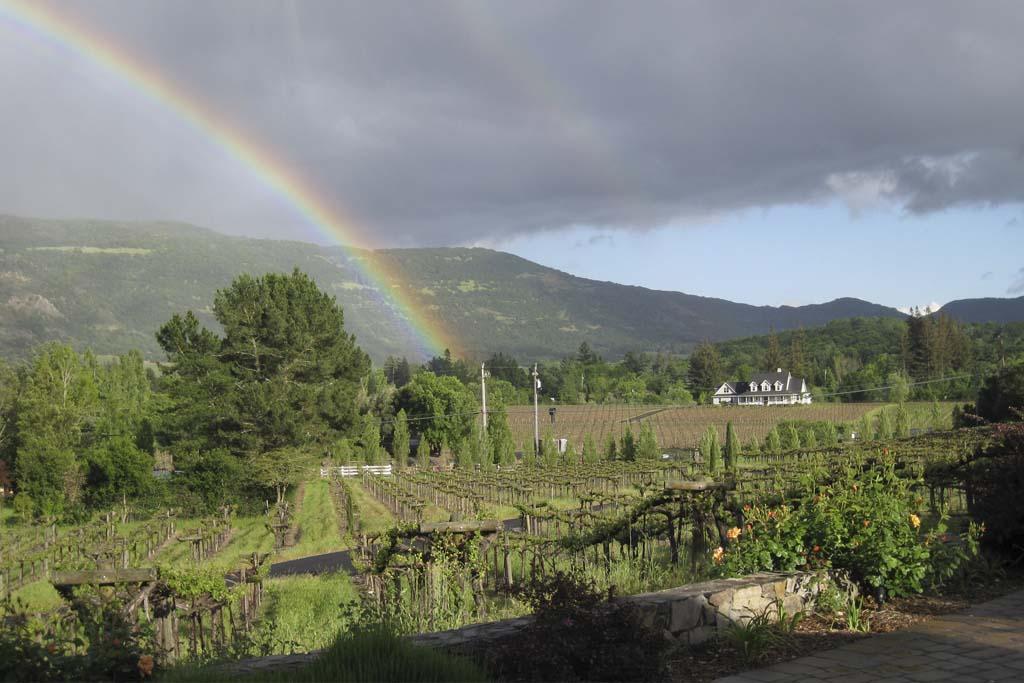 Rainbow over Napa Valley