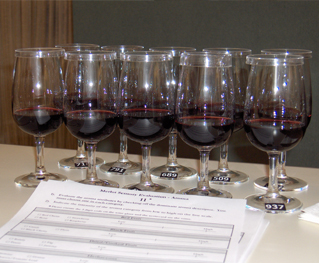 A thematic wine tasting