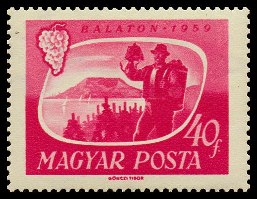 Hungarian Wine Stamp