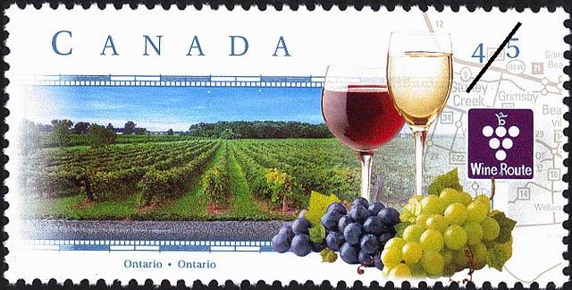 Ontario Wine Trail Stamp