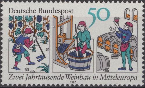 German Wine Stamp