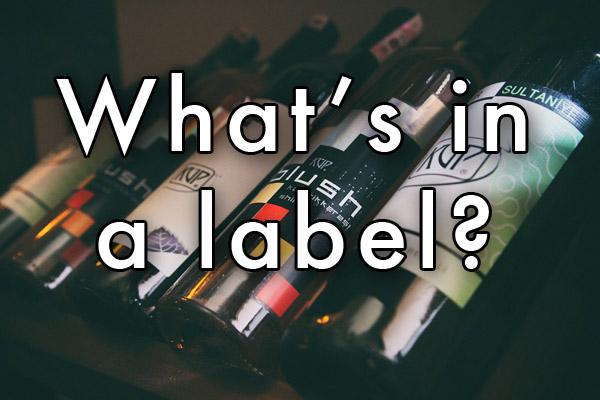 What's in a wine label?