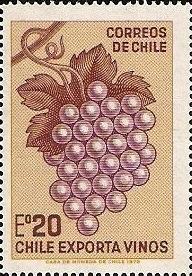Chile Wine Stamp