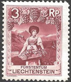 Liechenstein Wine Stamp