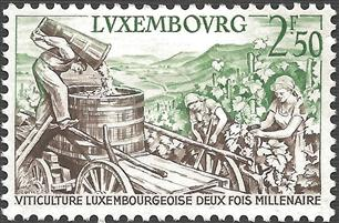 Luxembourg Wine Stamp