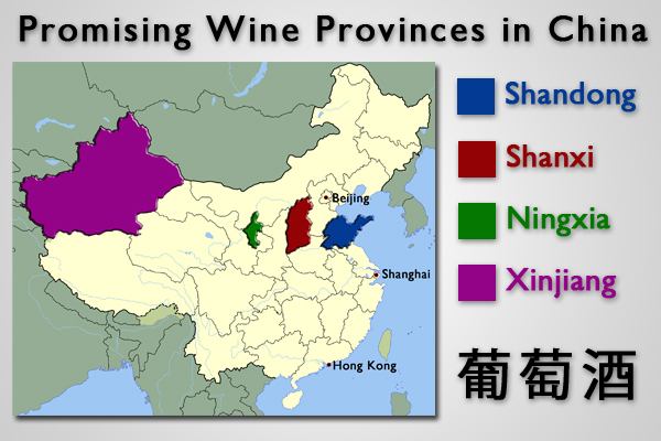 Wine in China map