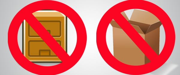 Avoid storing wine glasses in cupboards and cardboard boxes