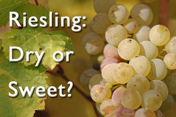 Riesling dry or sweet