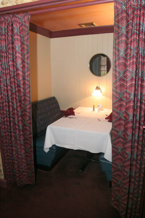private room at the Silver Slipper restaurant