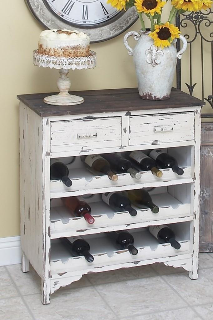 Wine rack dresser