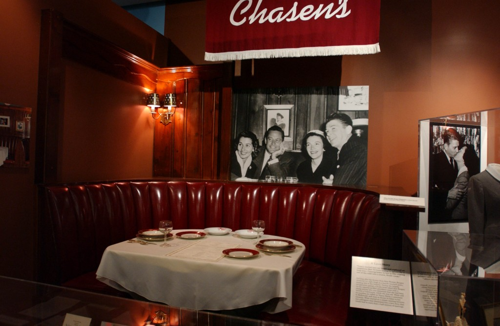 Ronald Reagan's booth at Chasen's