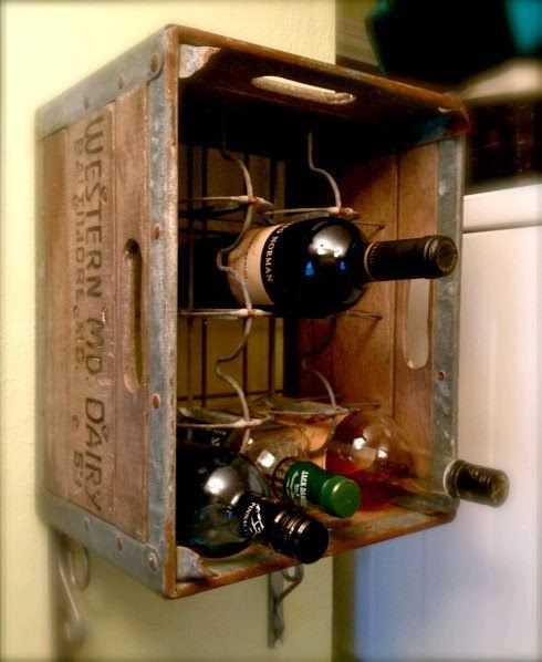 Milk Crate Wine Rack