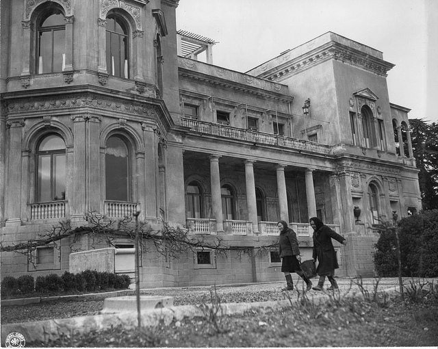 Exterior of Livadia Palace during the Yalta Conference