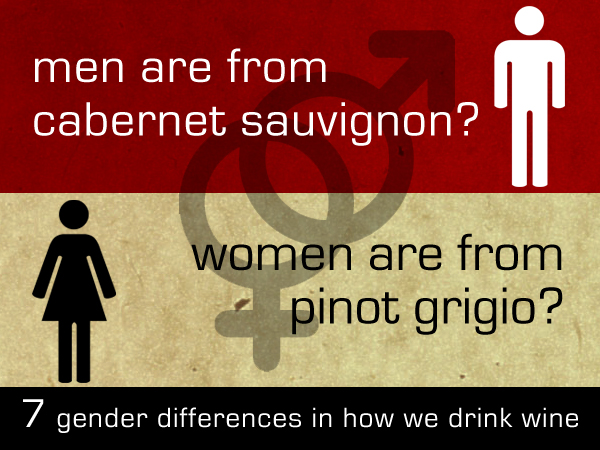 men and women drink wine differently