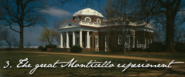 Monticello and wine