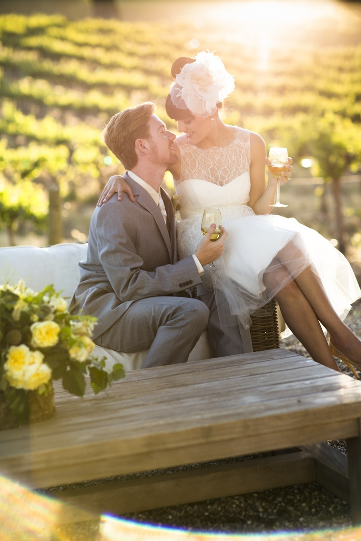 Vineyard wedding ambiance