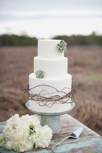 Cake at a vineyard wedding