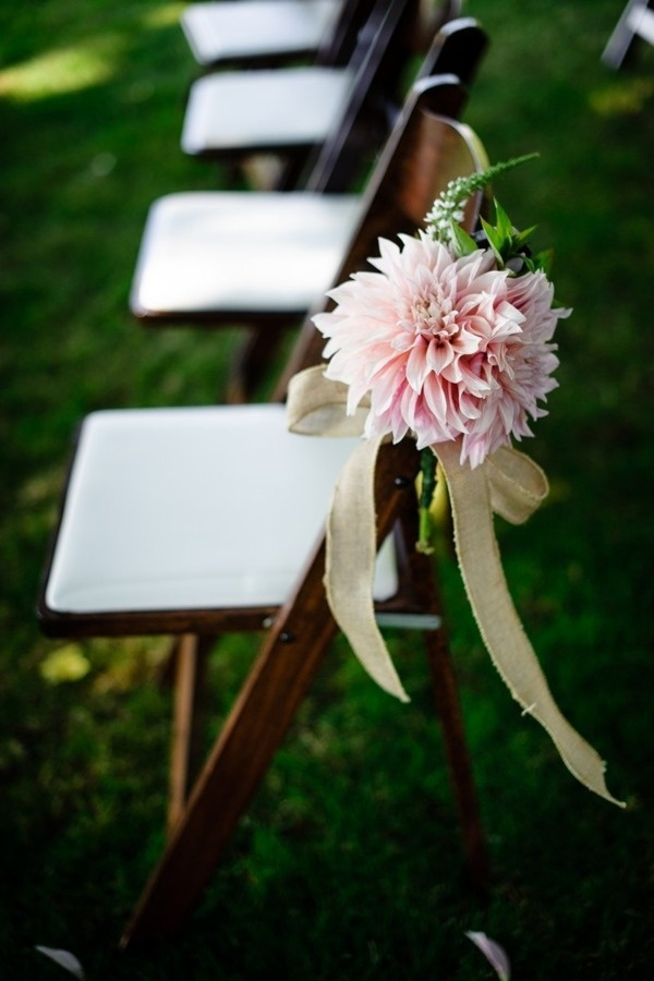 Chairs at a vineyard wedding