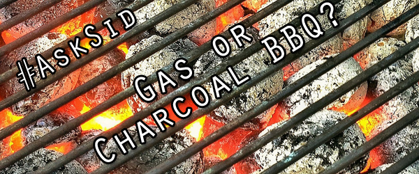 Charcoal or gas barbecue