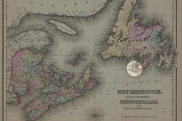 Map of St. Pierre & Miquelon