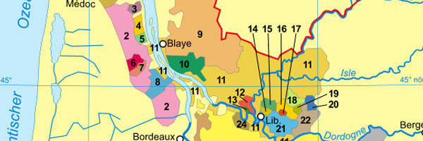 What does left bank and right bank Bordeaux mean?
