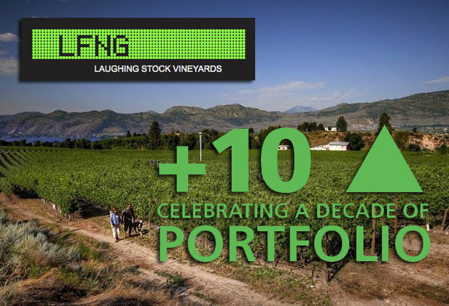 Celebrating a decade portfolio bc wine