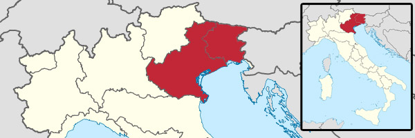 Prosecco is produced north of Venice