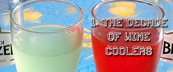 1980s were the decade for wine coolers