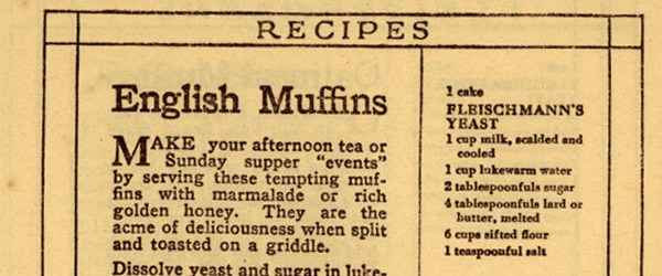English Muffins at the 1893 World's Fair
