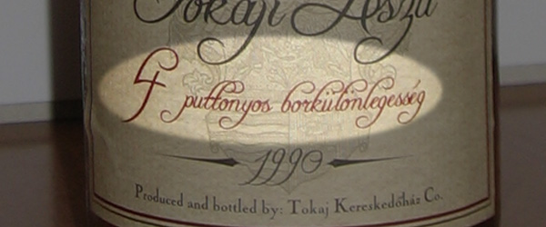 Levels of sweetness in Hungary Tokaj wines