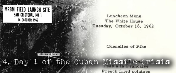 JFK and Libryan Prince luncheon during Cuban Missile Crisis
