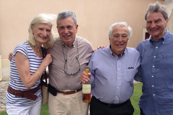 Lynch Bages Sid Cross(L-R) Serena Sutcliffe, Ambassador Ron Weiser, Jean-Michel Cazes, Sid Cross.