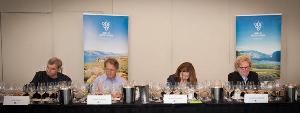 Judgement of BC wine tasting