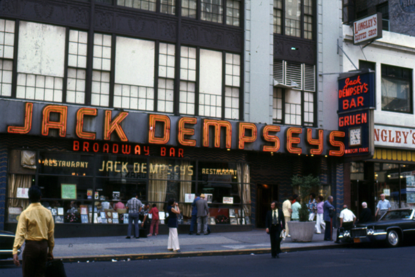 Jack Dempsey's Restaurant in the 1970s