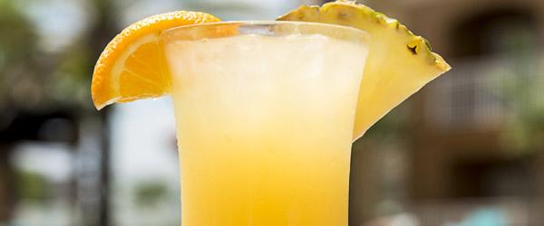 Muscat, Orange Liquor and Peac Juice