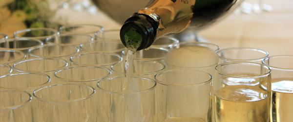 Sparkling Wine, Vanilla Vodka, Peach Juice