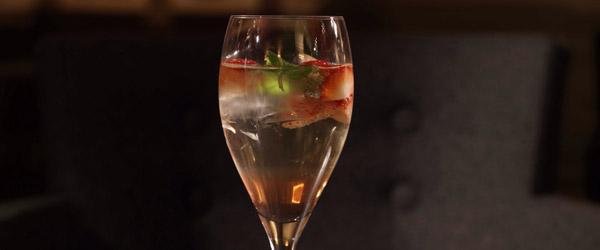Zinfandel, Strawberry Vodka and Club Soda