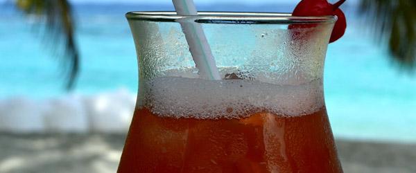 Rose, Cherry Liquor and Lime Soda