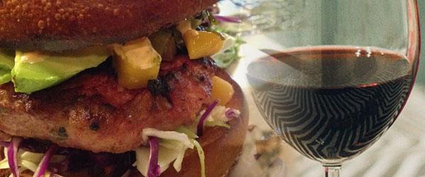 Pork Burger and Beaujolais