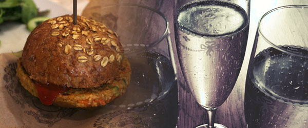 Pork Burger and Chardonnay