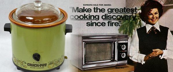 1970s Crockpots and Microwaves