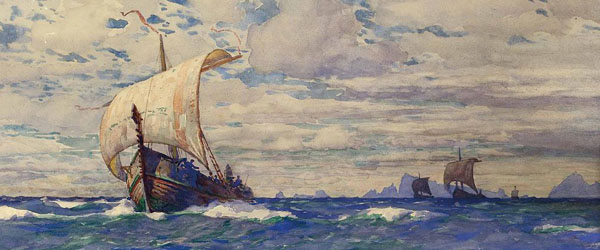 Christening viking ships with blood