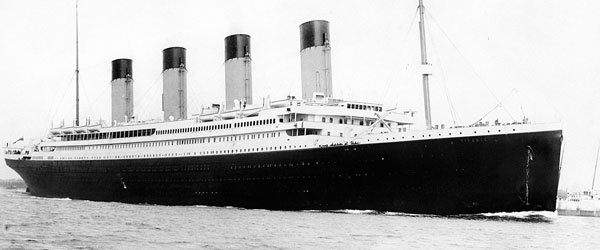 Was the Titanic christened?