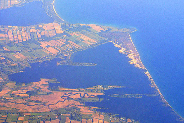 Aerial view of Prince Edward County