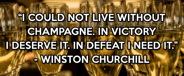 Winston Churchill champagne quote