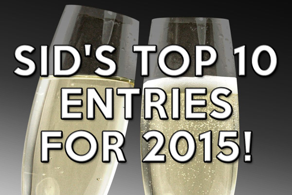 Top 10 entries from Sid Cross for 2015